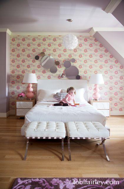 Fun, mod girl's bedroom design by Tobi FairleyFairley Interiors, Kids Spaces, Girls Bedrooms, Bedrooms Design, Kids Room, Interiors Design, Girls Room, Toby Fairley, Kids Design