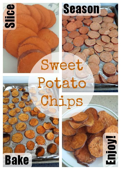 Sweet or Savory Baked Sweet Potato Chips.  Great clean eating snack idea…