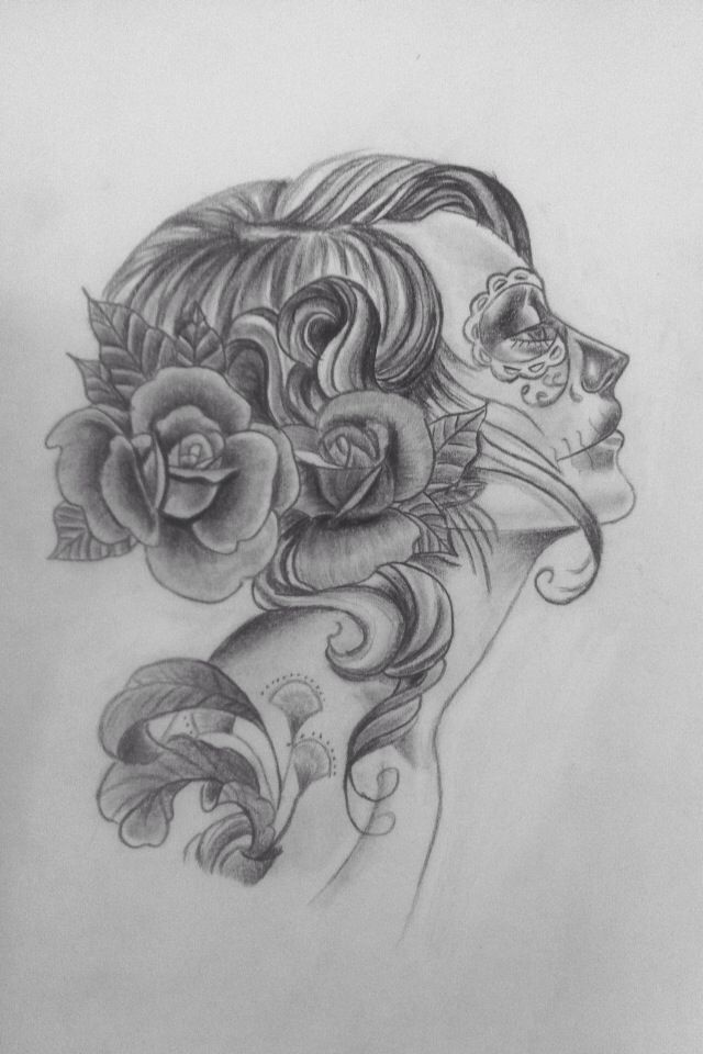 la catrina drawing pinterest tattoos tattoo designs und tatting. Black Bedroom Furniture Sets. Home Design Ideas