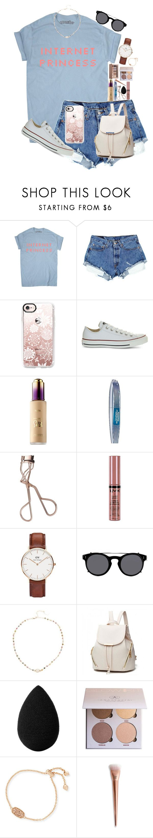 """""""«most girls»"""" by lizxlol on Polyvore featuring Casetify, Converse, Sephora Collection, L'Oréal Paris, Charlotte Tilbury, NYX, Daniel Wellington, Valentino, Ela Rae and beautyblender"""