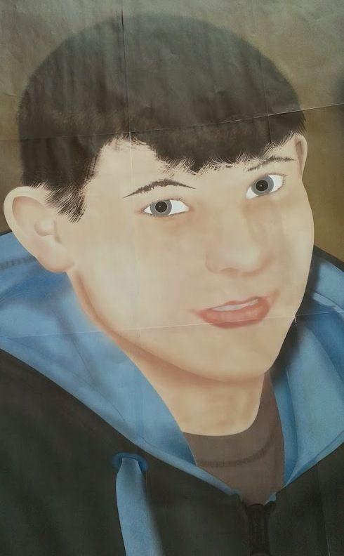 A painted 'Selfie' portrait