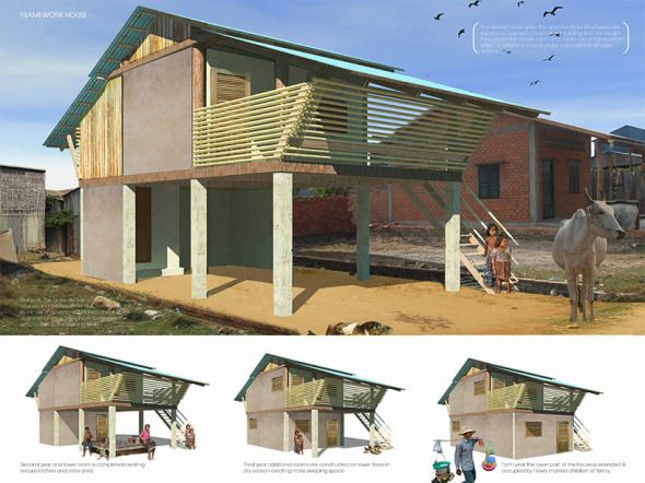 Atelier COLE, Building Trust International, y Hábitat para la Humanidad en Camboya se unieron para diseñar un plan de vivienda asequible y respetuoso del medio ambiente para las familias afectadas por el VIH / SIDA.