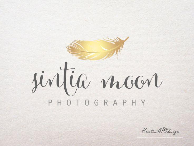 Vorgefertigten Logo - Fotografie Logo - Feather Logo-Gold Logo-Gold Feder - Fashion-Logo-Logo Design - Watermark062 von KristinARTdesign auf Etsy https://www.etsy.com/de/listing/192087204/vorgefertigten-logo-fotografie-logo