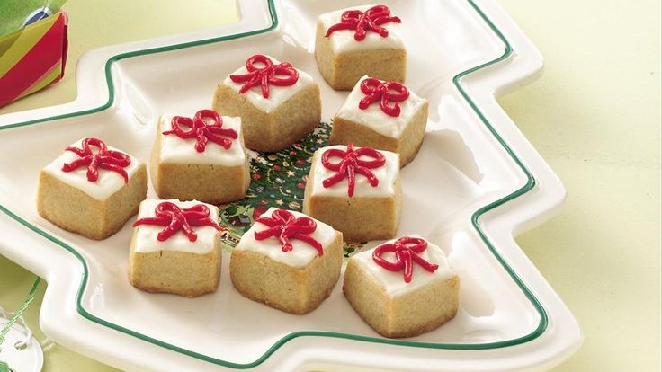 No rolling or shaping required—these cute, beribboned boxes start out as a pan of bars. Wrap up your Christmas baking in no time!