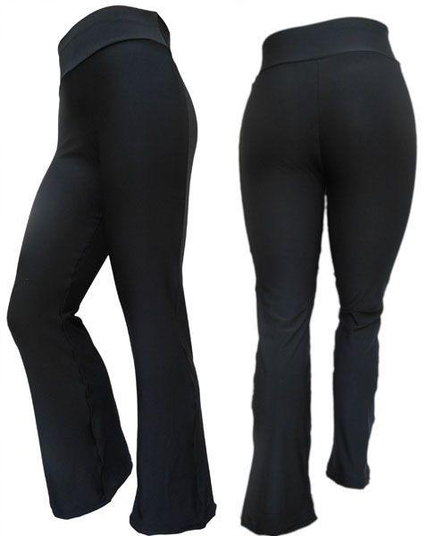 a11d7b2a8 Calça Flare preta em Suplex Tecido com elasticidade e caimento perfeito.  Comprimento desta calça flare