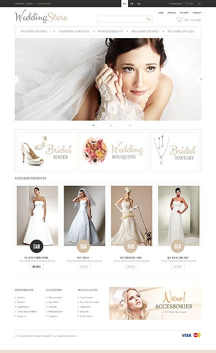Wedding inspirations at the Coffee Break? Browse for more Wedding and PrestaShop templates! // Regular price: $140 // Unique price: $2500 // Sources available: .PSD, .PHP, .TPL // #Wedding #PrestaShop #templates