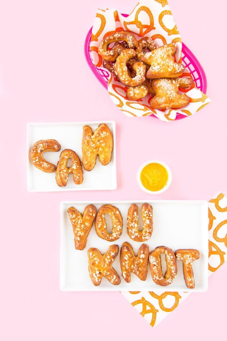 Letter-Shaped Pretzels For National Pretzel Day