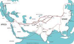 La Via della Seta, quel filo sottile che legò l'Oriente all'Occidente, mappa.