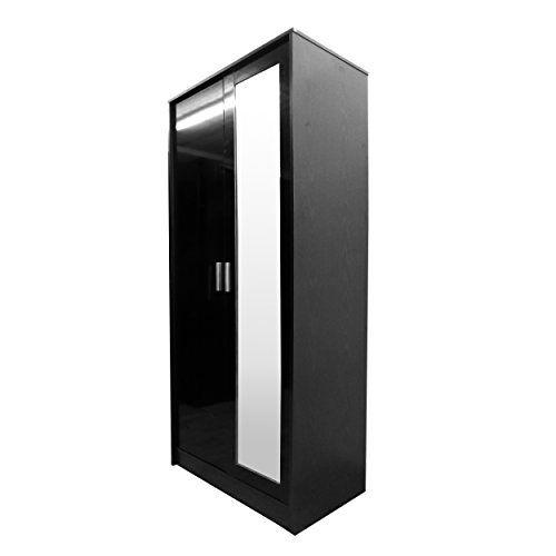 High Gloss 2 Door Mirrored Wardrobe Only Black Gloss / Bl... https://www.amazon.co.uk/dp/B00QM88O1G/ref=cm_sw_r_pi_dp_x_tyuVybDAZQYAA