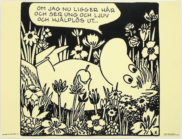 PLANSCHER, 6 st, Tove Jansson, Bulls Presstjänst, Stockholm, 1960-tal.