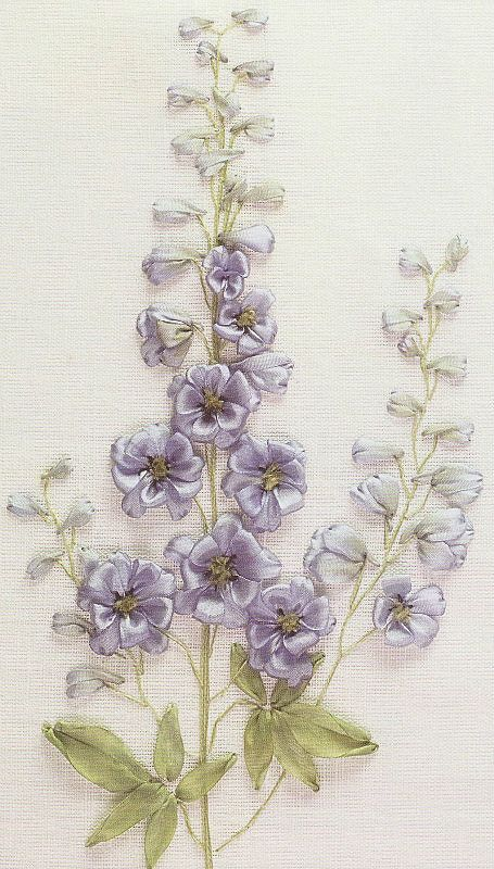 The handmade DIY Art and Design Ribbon embroidery pattern world LOVE the colors!