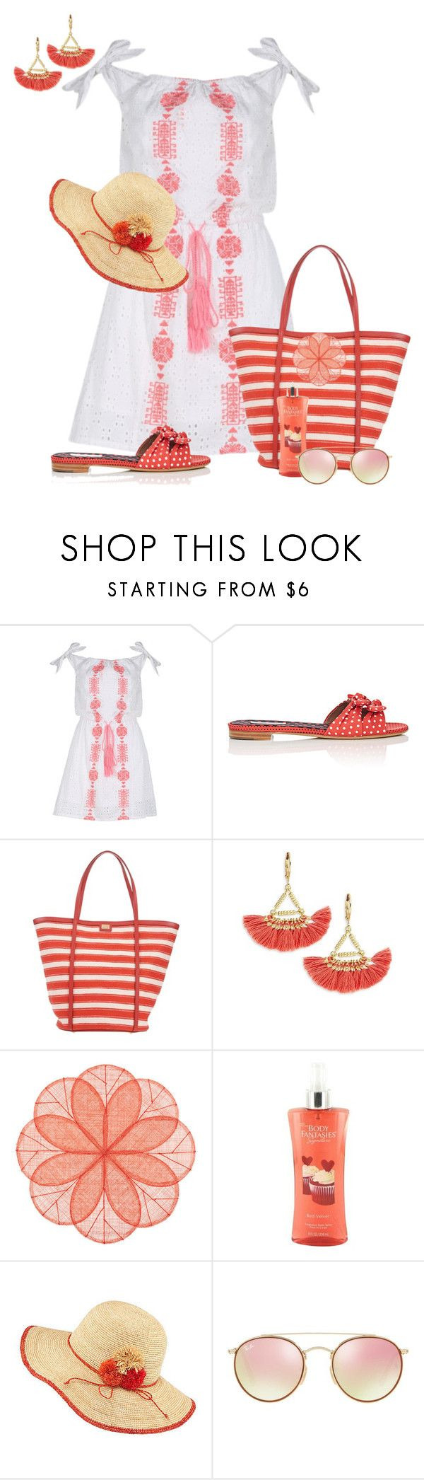 """Untitled #351"" by prissy50 ❤ liked on Polyvore featuring Pampelone, Tabitha Simmons, Dolce&Gabbana, Shashi, Deborah Rhodes, Frontgate and Ray-Ban"