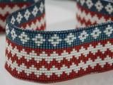 American Brave Native American Beaded Hat Band