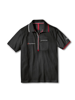 Men's Audi Sport polo shirt dark grey.    Available from: http://www.m25audi.co.uk