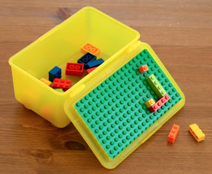 These-baby-wipe-container-crafts-are-simply-genius... Lego containers  (great for keeping Lego groupings together). Make believe baby wipes for dramatic play area. Organize tods/kiddos lunch choices so they pack their own lunch. Game night; holss cards/pencil/paper - even label & stack to put away. Genius