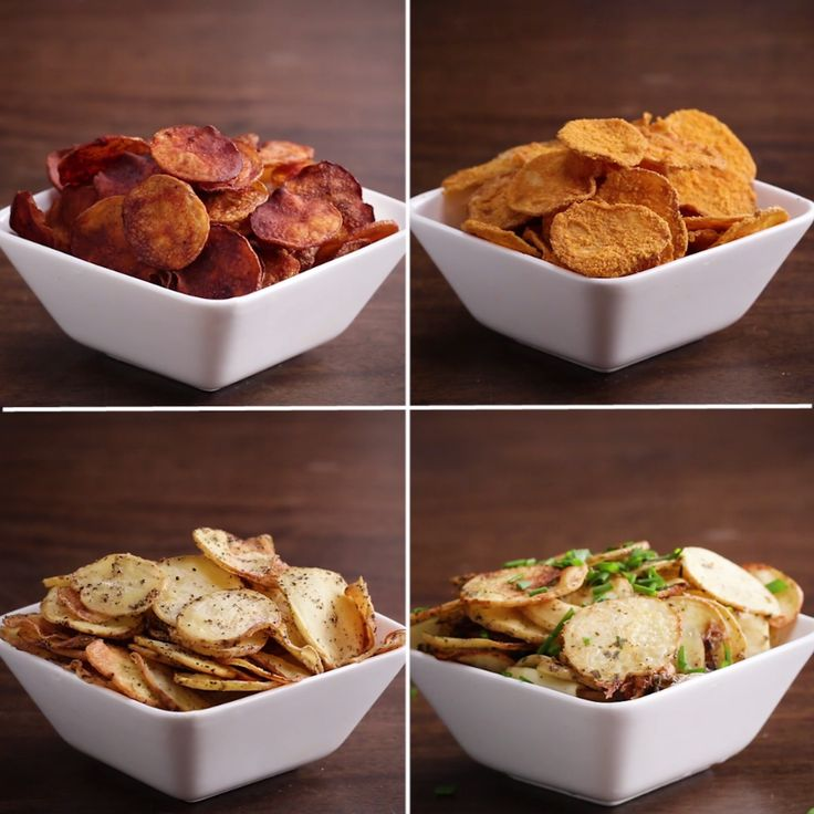 Baked Potato Chips 4-Ways