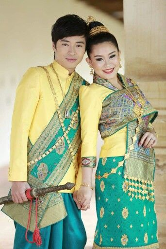Lovely couple in #Lao#traditional#wedding