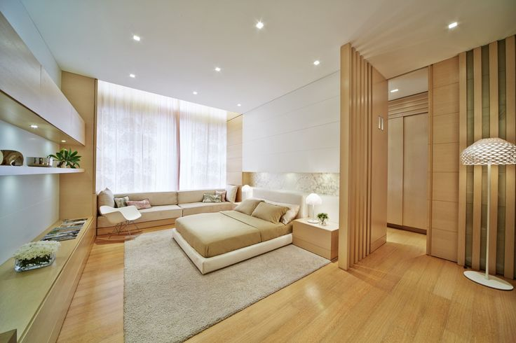 bedroom with Kreon downlight luminaires