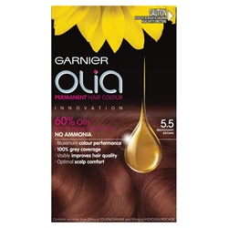Garnier Olia Permanent Hair Colour $16.95. Driven by oil, not ammonia. Concentrated at 60% it propels colour deep inside the hair for maximum colour performance and 100% grey coverage. Gives a beautiful soft & shiny finish too!