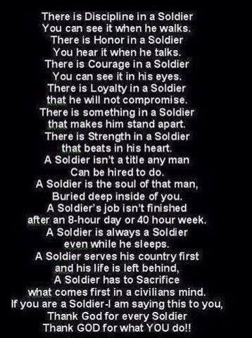 To all my brothers and sisters in arms
