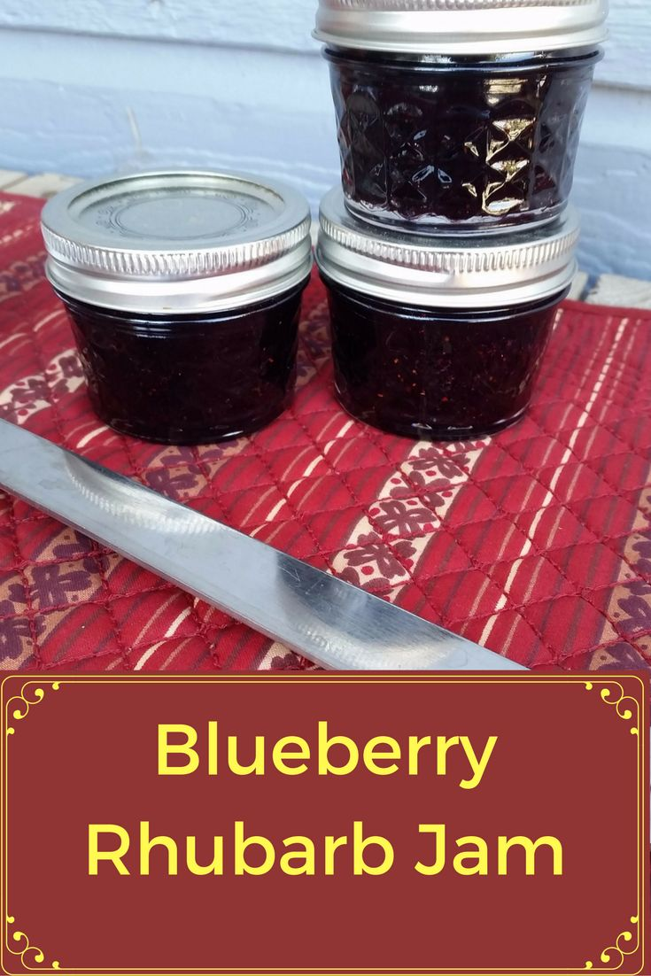 Simple instructions to make your very own Jam with fresh blueberries and rhubarb. Make a great gift.