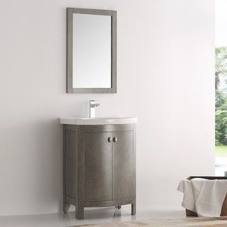Shop for Fresca Greenwich Antique-silver Wood 24-inch Single-sink Bathroom Vanity. Get free delivery at Overstock.com - Your Online Furniture Outlet Store! Get 5% in rewards with Club O! - 20423205