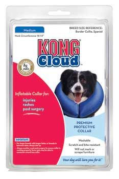 Kong Cloud Inflatable Dog Collar Medium, Kong Company - The Kong Cloud Collar Is Soft, A Comfortable Alternative To Elizabethan Collars, Which Are Used For Injuries, Rashes, Or Post Surgery. With The Cloud Collar, Pets Can See Where They Are Walking And Avoid Bumping Into Things. Cloud Collars Are Not Large Or Awkward And Are Easy To Use. Washable, Scratch And Bite Resistant!