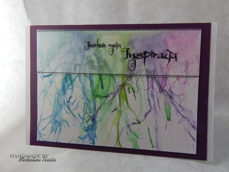 You are my inspiration  watercolors and vellum (kind of)