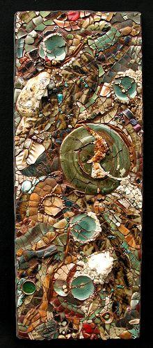 mosaic: Glasses Tile, Abstract Mosaics, Earth Colors, Art Sources, Mosaics Artists, Kathleen Jones, Stained Glasses, Artists Kath, Portland Oregon