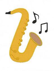 Saxaphone Applique - 4 Sizes! | Music | Machine Embroidery Designs | SWAKembroidery.com Applique for Kids