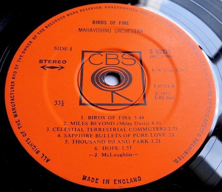 MAHAVISHNU ORCHESTRA Birds Of Fire 1973 UK 1st PRESS - ONCE PLAYED - MINT
