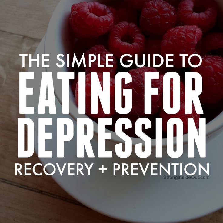 The Simple Guide to Eating for Depression Recovery and Prevention // via Strong Inside Out