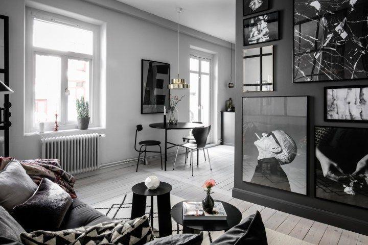 Puertas y muebles del mismo color que la pared