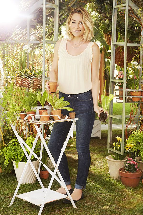 LC Lauren Conrad for Kohl's Pintuck Tank + Skinny Roll-Cuff Jeans, the perfect spring combo