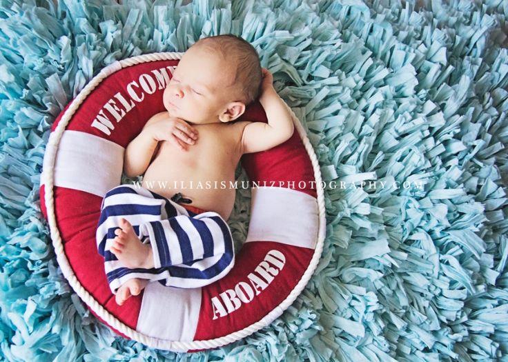 Super cute nautical Newborn shoot from Iliasis Muniz Photography