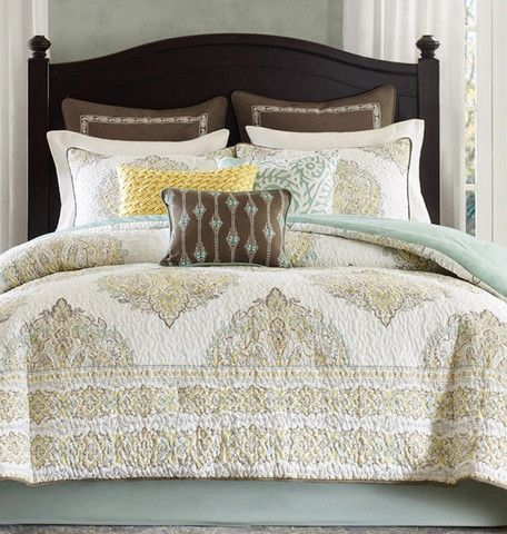 Modavi Damask Quilt Comforter Set. Bedroom LinensBedroom ...
