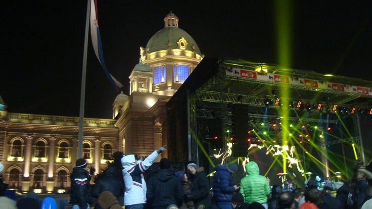 Concert pour le Réveillon du Jour de l'An, devant le Parlement