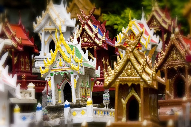 Thailand Lampang spirit houses