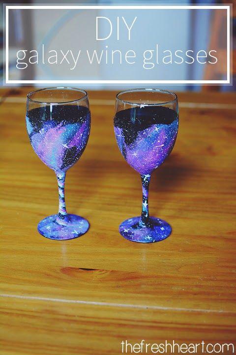 the fresh heart diy galaxy wine glasses home decor pinterest diy crafts and diy galaxy