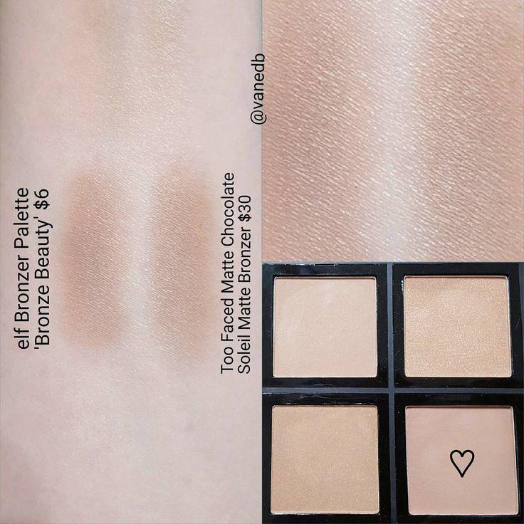 """Too Faced Chocolate Soleil Bronzer = Elf Bronzer Palette """"Bronze Beauty"""" #dupe #bronzer"""