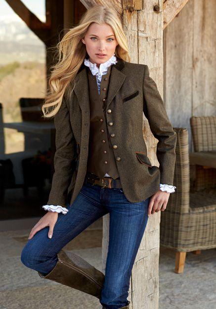 Gorsuch. Classic equestrian style beauty. Yin hair, face, and expression. Delicate, feminine face and hands, beautifully framed by collar and cuffs.