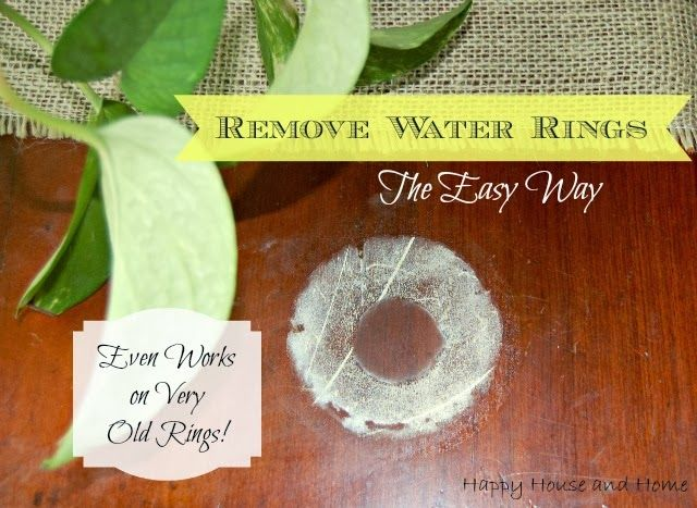 How-To Remove Water Rings From Wood. This is easy and effective, even on very old marks! #waterrings #lifehack