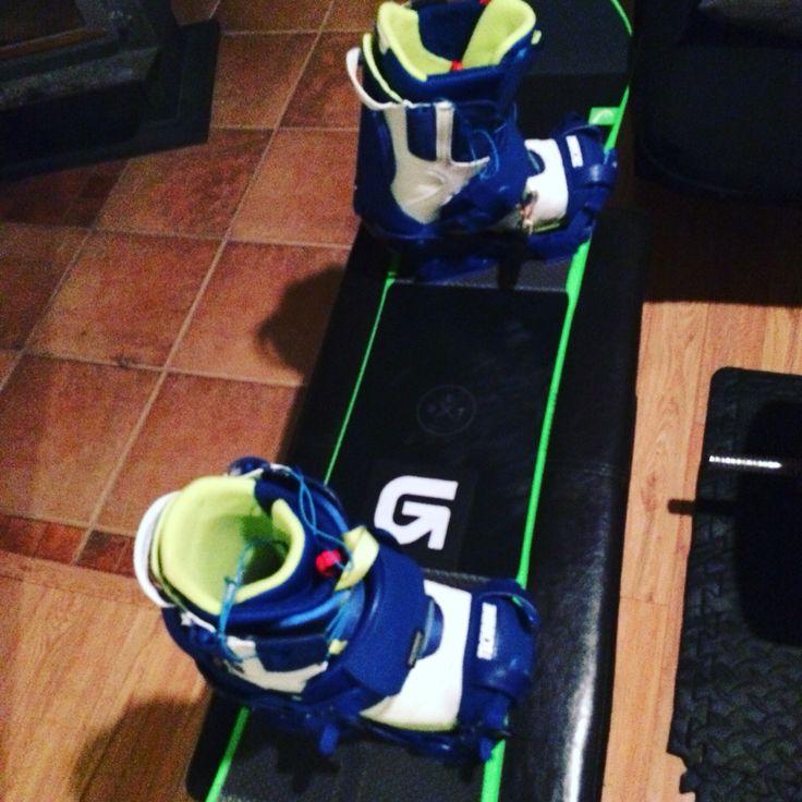 Snowboard ready, still waiting on the snow!