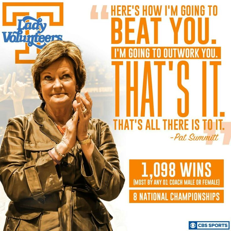 The legendary Pat Summitt