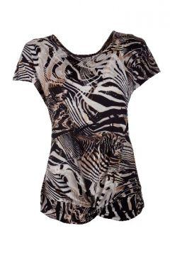 #myqueensparksummer Animal Print Knot t-shirt R450