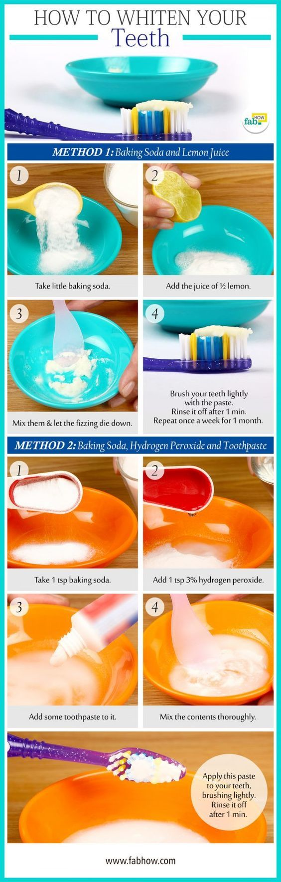 How to Whiten your Yellow Teeth in 2 Minutes