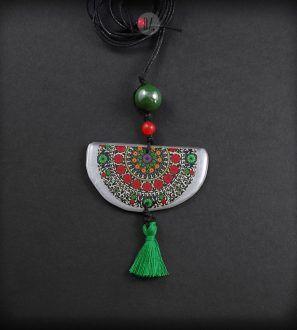 Rainbow Moon Mandala necklace – Olga Zielinska – Folt Bolt Shop