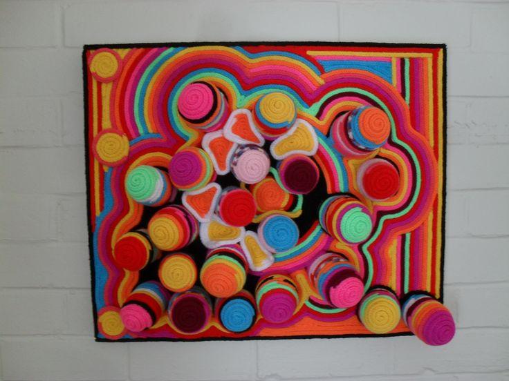 "3D artwork 60 x 70cm on canvas frame. Titled ""Polyps"""
