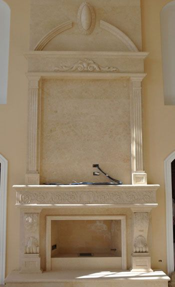 Marble 95 Overmantel Fireplace Mantel http://www.artisankraftfireplaces.com/fireplace-overmantels.html
