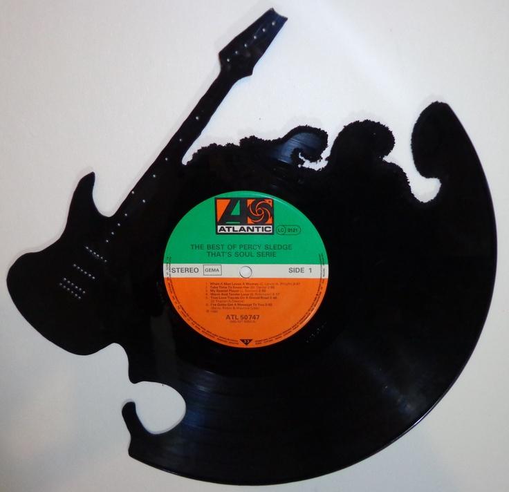 Guitar Handmade Cut Vinyl Record Art Vinyl Record Craft